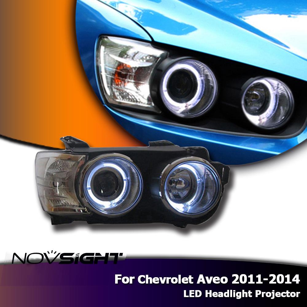 Novsight Auto Car Led Headlights Assembly Projector Drl Fog Light