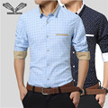 2017 New Arrival Men Shirt Polka Dot Casual Brand Clothing Male Business Dress Camisa Social Masculina Plus Size 5XL N1174