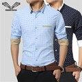 2017 nuevos hombres de la llegada camisa del punto de polca casual brand clothing vestido de camisa masculina sociales de negocios masculino más tamaño 5xl n1174