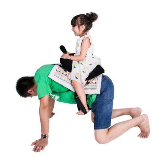 Funny Kids Games Novelty Daddle Saddle Ride Toys Happy Family Play With You Dad