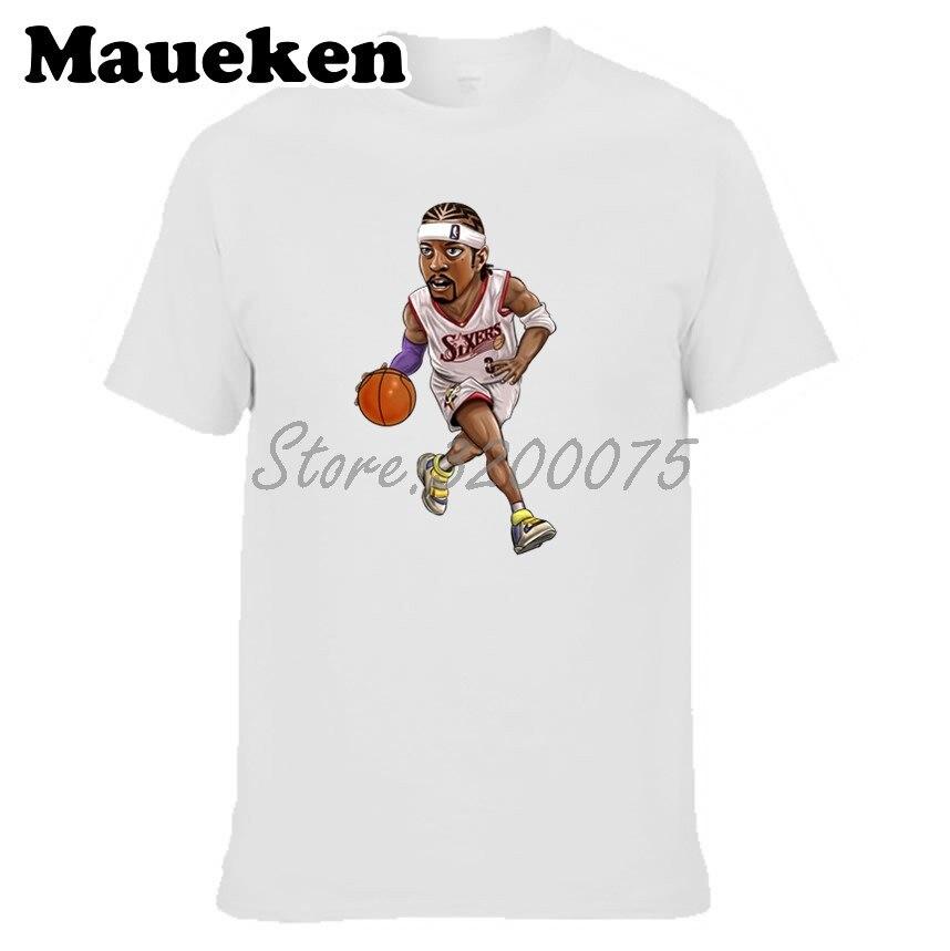 da1b33ca0 Men T-shirt Philadelphia Legend  3 Allen Iverson The Answer Clothes T Shirt  Men s