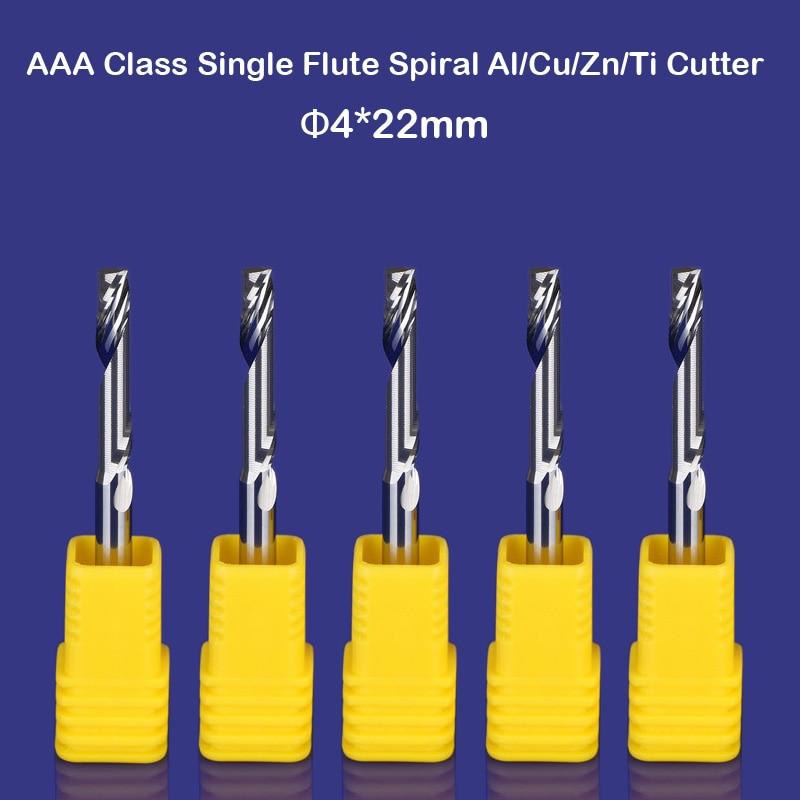 AAA Grade Aluminium Cutting Single Flute CNC Router Milling Bit CED 8mm CEL 25mm