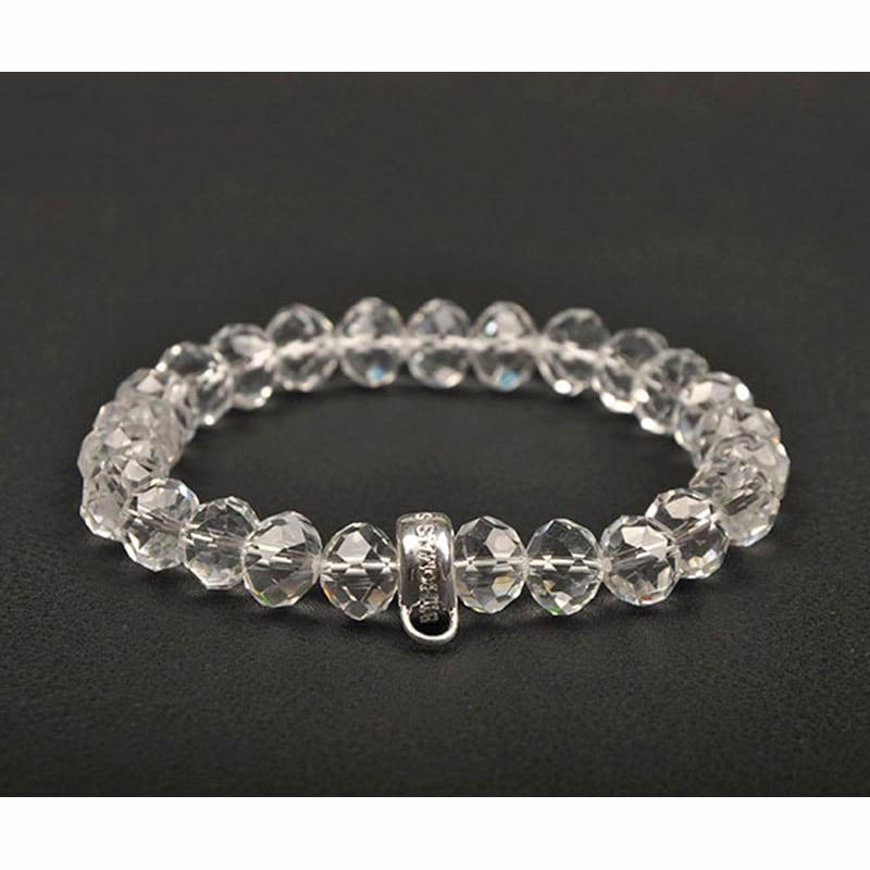 European Style Fashion Bracelet Cutting Purple Crystal Elastic Charm Bracelets Bangles Jewelry For Women Gifts TSBR074