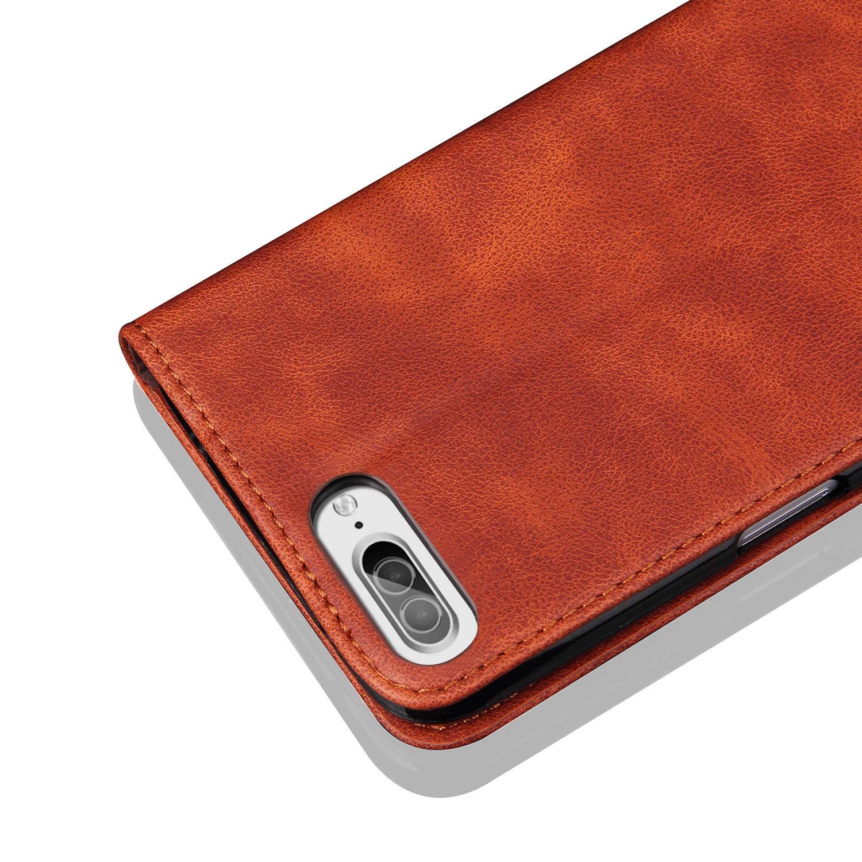 Apple iPhone 7 için artı PU deri kapak Retro çılgın at kapak Cas cep telefonu çantası Capinhas Caso iPhone 7 cep telefonu kılıfları