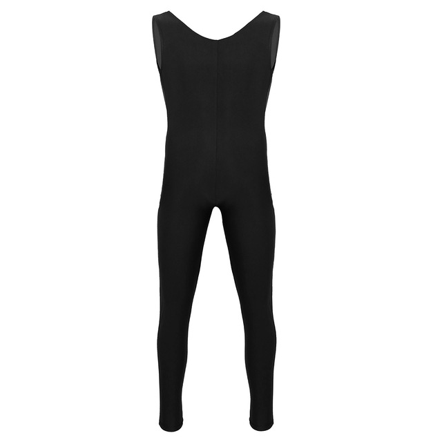 Men Sleeveless Leotard Bodysuit Lycra Tights Leggings for Ballet Dance Vest Teddy Sports Unitard Catsuit Male Dancewear Jumpsuit 4