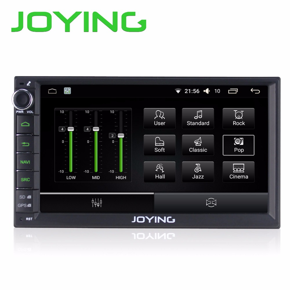 joying official 7 2 din android 6 0 car radio stereo fm am. Black Bedroom Furniture Sets. Home Design Ideas