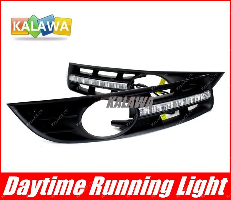 ФОТО High power LED daytime running lights dedicated DRL case for VW Magotan  imported led chip FREESHIPPING GGG