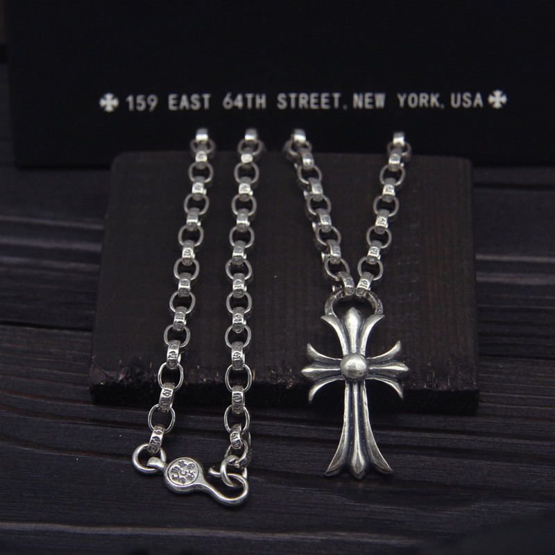 925 Sterling Silver Punk Wind Necklace Crosses Japanese And Korean Tide Men And Women Bigbeng GD Star The Same Paragraph new kpop bigbang gd gdragon the same gd is back peaceminusone seoul hand bag