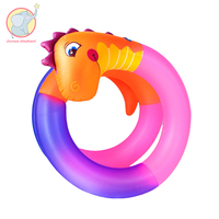 792cm Giant Inflatable long Gradient colorful snake swimming ring Pool Float water fun toy raft outdoor air mattress for child