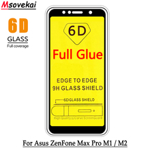 Full Cover Tempered Glass For ASUS Zenfone MAX PRO M1 ZB601KL ZB602KL M2 ZB631KL ZB633KL Glue 5D 6D 9D Screen Protector