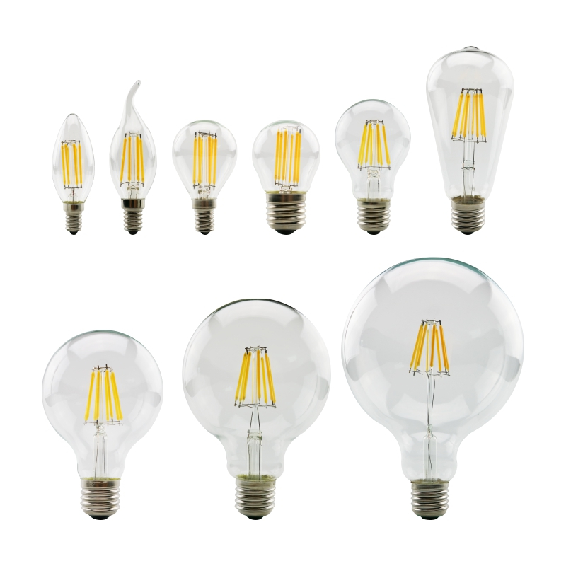 LED Filament Bulb E27 Retro Edison Lamp 220V E14 Vintage Candle Light Globe Chandelier Lighting Energy Saving Glass Ball Bulb