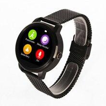 Heißer verkauf! runde Smartwatch V360 Kalorien Schrittzähler Schlaf-monitor Schrittzähler Fernbedienung Sprachsteuerung Bluetooth4.0 Für Android