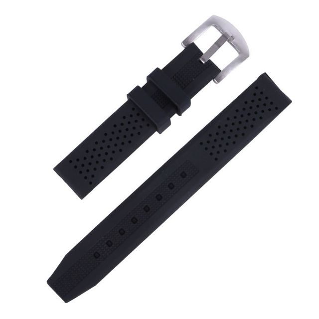 16-24mm Watch Bands Breathable Silicone Strap Rubber Buckle Watchbands Sport Wrist Watch Band Kol Saati