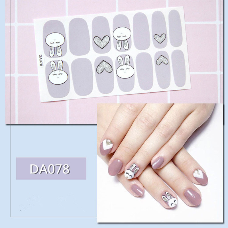 1sheet Fashion Nail Sticker 3D Waterproof Mixed Designs Predesigned Nail Art Stickers Adhesive DIY Wraps Decals Manicure Tools in Stickers Decals from Beauty Health