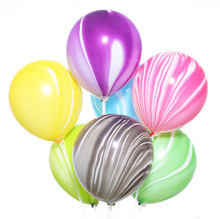 Thickening 10 inches 2.3 g ink graffiti clouds latex balloon decoration agate birthday