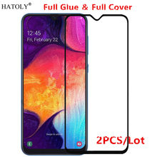 2Pcs For Samsung Galaxy A50 Glass Tempered for Film Full Glue Screen Protector