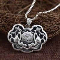2018 New Necklace Pendant wholesale jewelry Thai silver new pendant prajnaparamita heart sutra archaize style