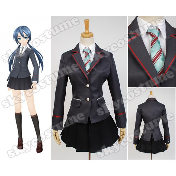 Vocaloid Project DIVA F 2nd Miku Girls School Uniform Dress Anime Cosplay Costume For Halloween Party