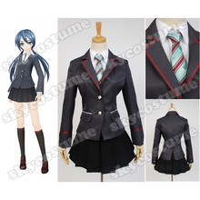 Vocaloid Project DIVA-F 2nd Miku Girls School Uniform Dress Anime Cosplay Costume For Halloween Party Suit All Set
