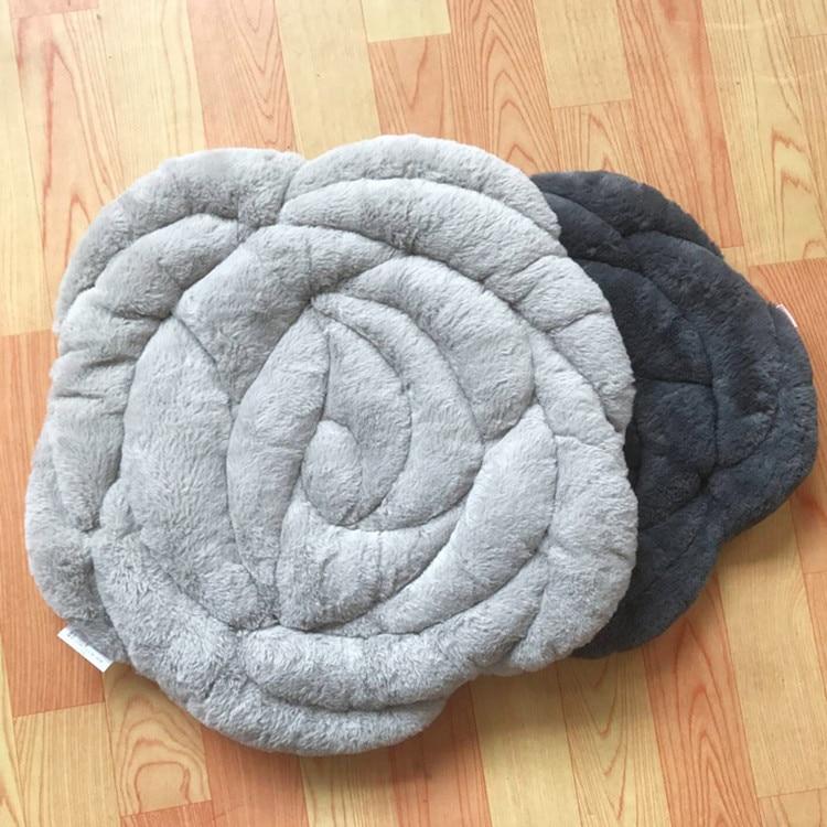 Роза круглый Push Home ковры Офисный Компьютерный стул Pad осень и зима татами подушки мягкие коврики кофе стол пол коврики - Цвет: gray