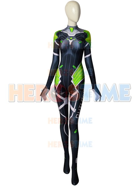 Nieuwste D Va Costume 3D Printed D Va Outlaws Halloween Cosplay Costume D Va Zentai Bodysuit
