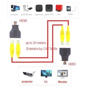 Image 2 - 2 adet HDMI genişletici 2 RJ45 bağlantı noktası, uzatma 30m CAT 5e CAT6 UTP LAN Ethernet kablosu HDTV HDPC
