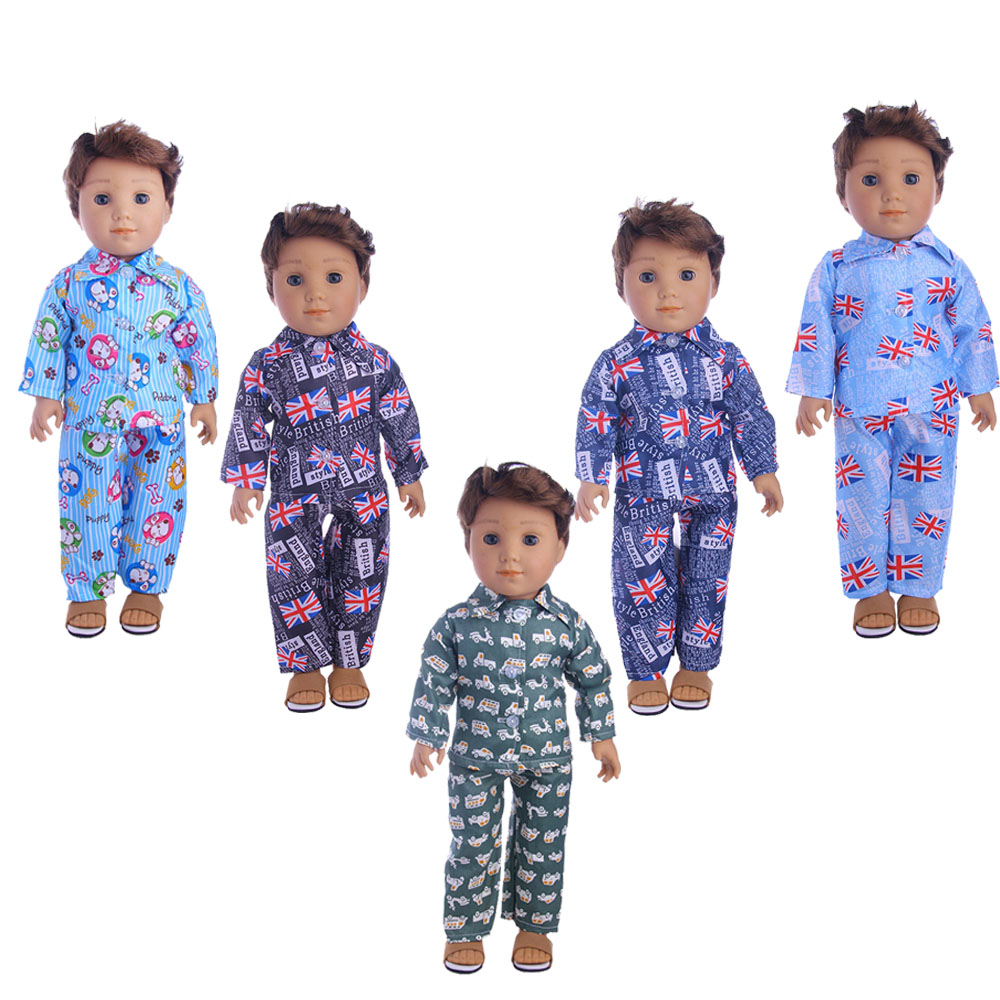 Doll Clothes Car Cartoon Pajamas Fits 18 Inch American