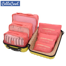 CelleCool 6PCS/Set Oxford Cloth Travel Mesh Bag In