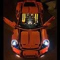 Bloques de construcción kit de luz led para arriba el kit para porsche 911 gt3 rs 42056 compatible con lego technic lepin 20001