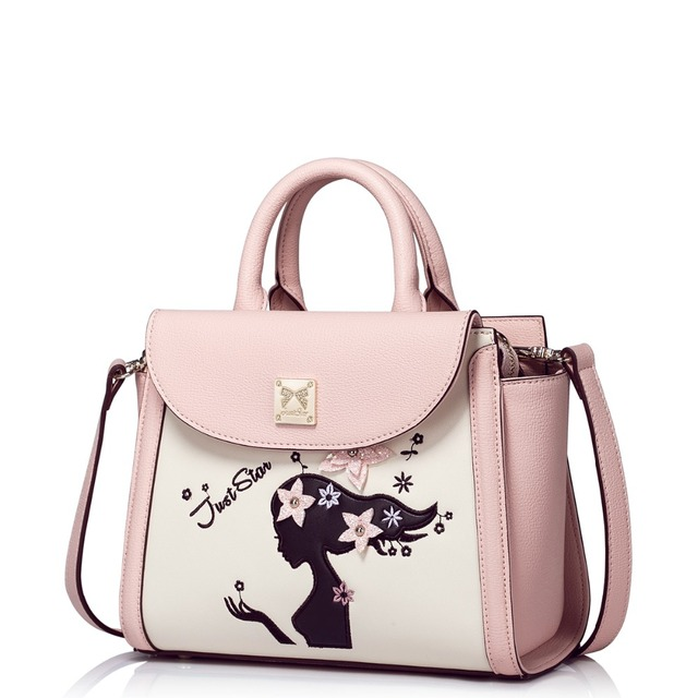 Aliexpress.com : Buy Women Floral Light Pink Leather Convertible ...