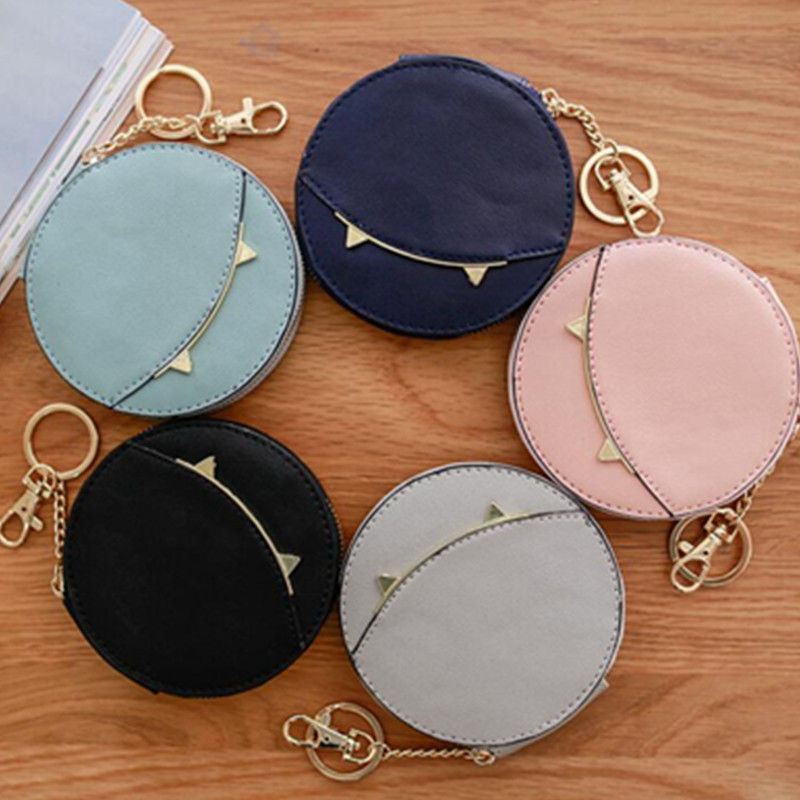 Leather Coin Purse Women Small Wallet Change Purses Money Bags Childrens Pocket Wallets Key Holder Mini Zipper Pouch