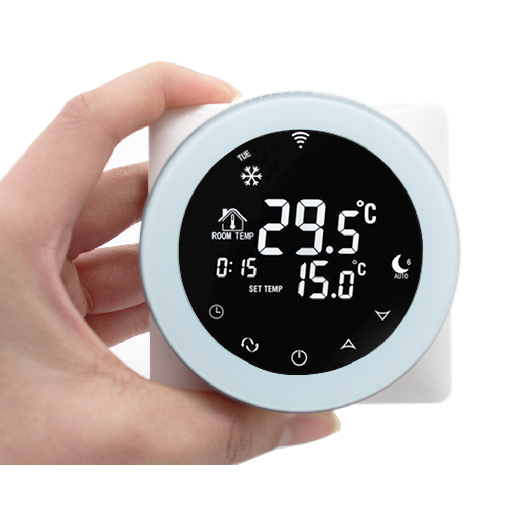 US $47 66 49% OFF|Wifi Thermostat 3A Water Heating Thermostat Voice Control  LCD Digital Touch Screen Temperature Controller Works With Alexa-in Smart