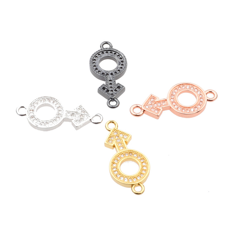 5 pcs Micro Popular Jewelry Rose Gold Sign Charms For Bracelets Necklaces Diy Crafts Wholesale Beads Jewelry Components