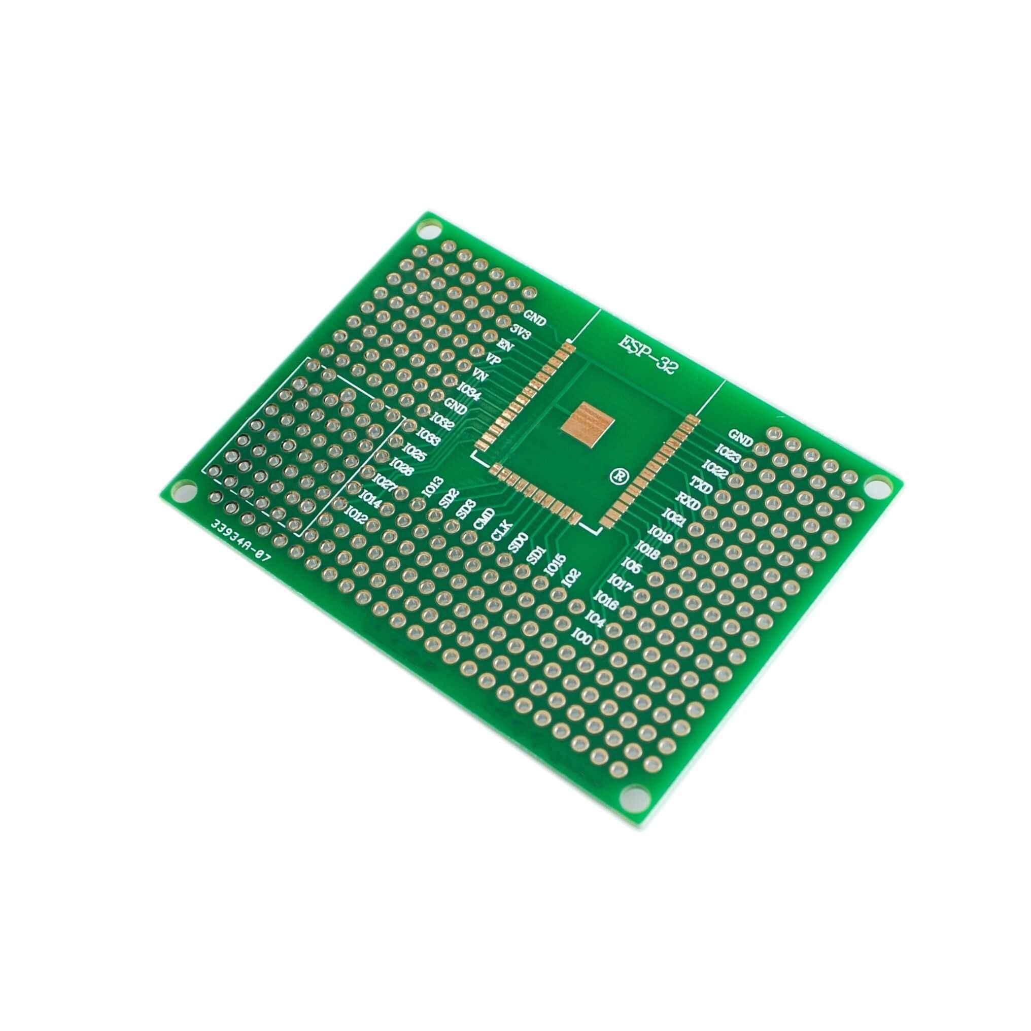 """5X7 ס""""מ כפול צד אב טיפוס PCB טיפוס אוניברסלי לוח לarduino UNO R3 ESP8266 WIFI ESP-12F ESP-12E ESP32S ESP32 50x70 מ""""מ"""