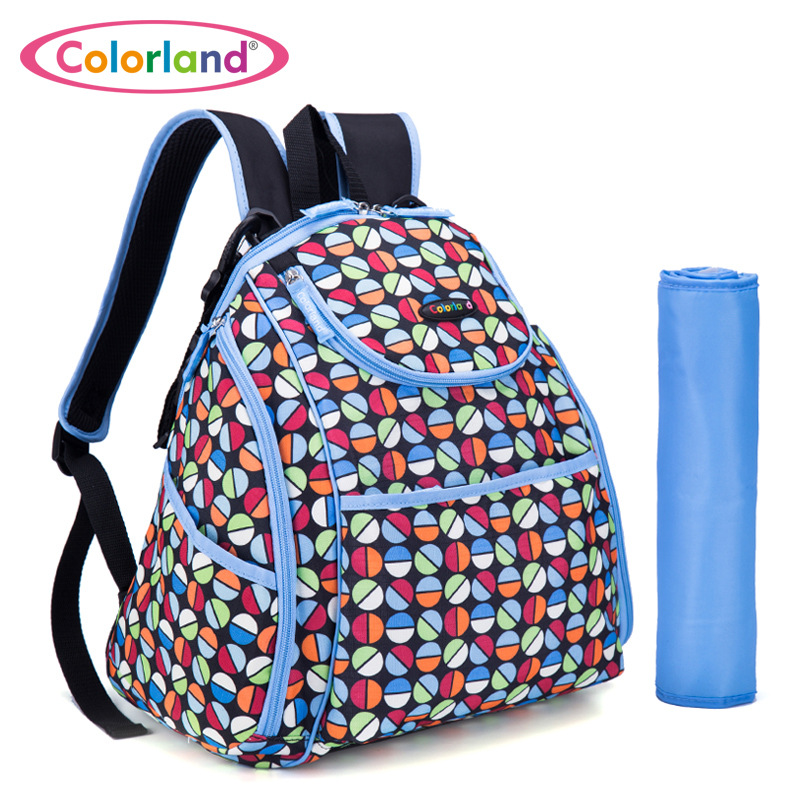 New Arrival COLORLAND Large Capacity Elegant Baby Diaper Backpacks Bags with Changing Mat Multifunctional Nappy Bag For Mommy free shipping fuubuu2026 adult diaper incontinence pants diaper changing mat adult baby