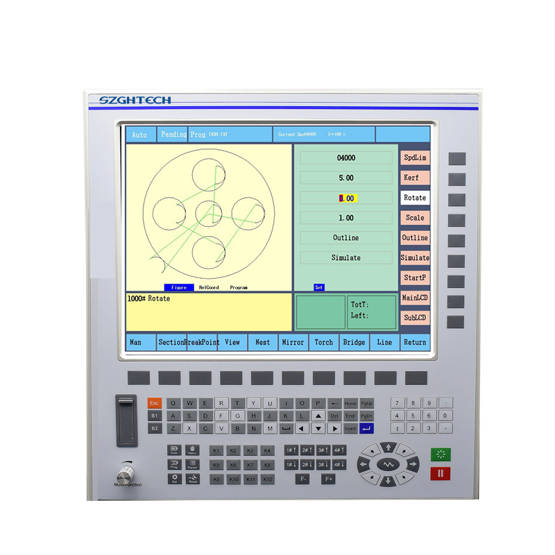 GH-Z4 Automatic operate cnc plasma/flame cutting controller 2-4 axis cnc plasma controller with USB