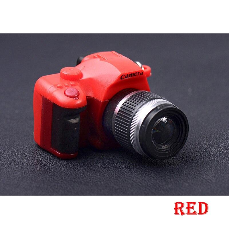 Светодиодная камера мигающая игрушка для детей цифровой брелок с камерой светящийся звук вспышка светильник Подвеска сумка Аксессуары Детская игрушка - Цвет: Красный