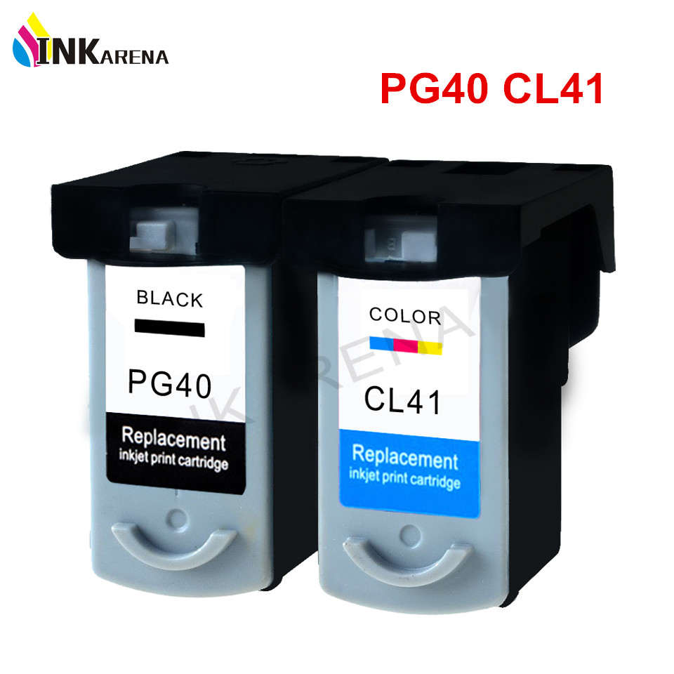 INKARENA PG 40 CL 41 XL Refilled Ink Cartridge For Canon PG40 CL41 iP1600 IP1700 IP1800 PG 40 CL 41 MP140 MP450 MP470 Printer