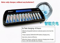 12 Bay Slot LCD Smart Battery Charger For AA AAA NiCd NiHM Rechargeable Batteries Quality Warranty