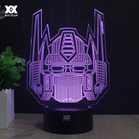 Transformers 3D Lamp Optimus Prime Avatar Night Light Novelty Table Lamp LED 7 Color Lighting Decoration