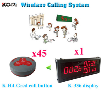 Wireless Waiter Call System Most Popular Star King Pager 433.92MHZ Transmitter Receiver (1 display 45 call button)