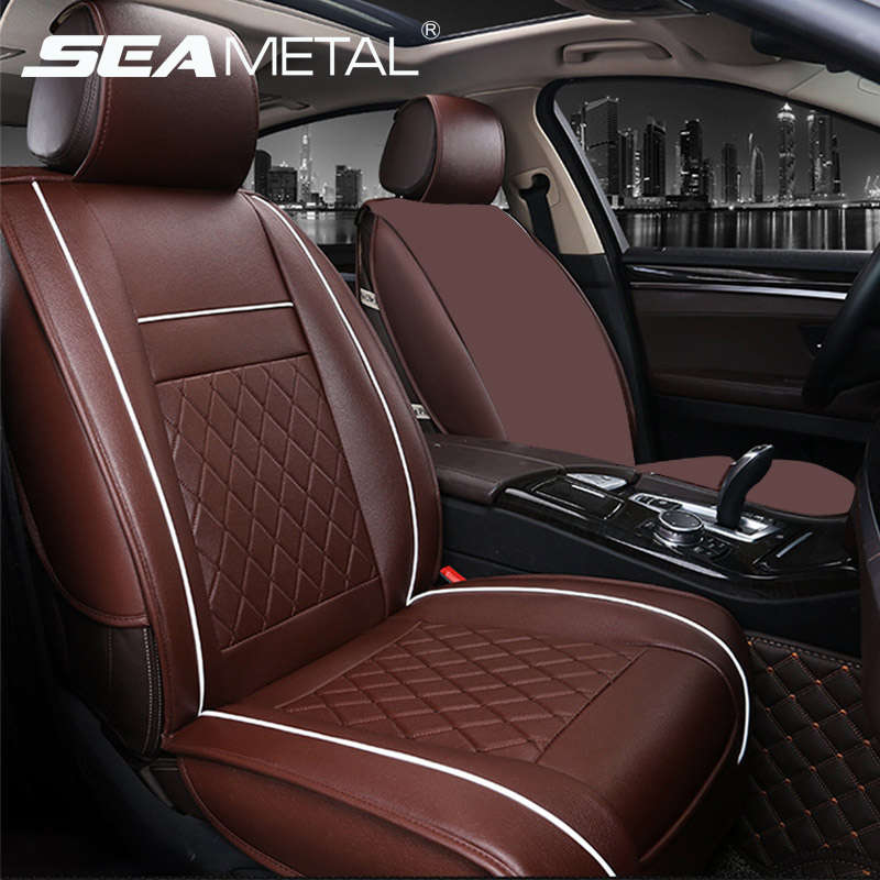 Automobiles Seat Covers Leather Car Seat Cover Universal Interior Seat Cover Cushion Protector Auto Chair Mats Pad Car Styling