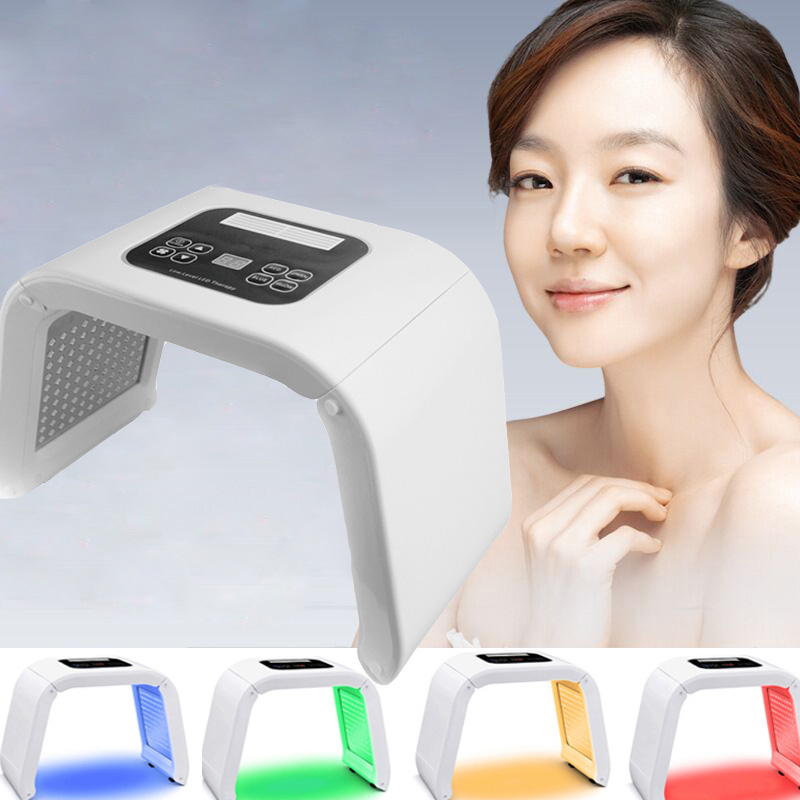 New 4 Cor LED Terapia PDT Máquina Da Beleza do Rejuvenescimento Da Pele Remover Acne Anti-rugas Máscara Facial Fóton Cuidados Com A Pele Dispositivo SPA