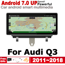 IPS Android 2 DIN Car DVD GPS For Audi Q3 8V 2011~2018 MMI Navigation multimedia player Stereo radio WiFi system цены онлайн