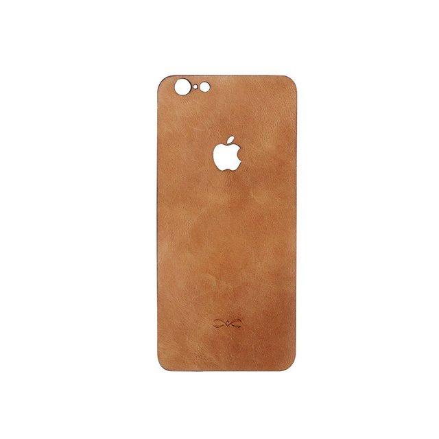 Bolsa em couro genuíno luxo volta completa filme pele adesivo decalque protetor durável para apple iphone 7/7 plus 6/6 s