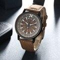 Top Luxury Brand Mens Faux Leather Band Analog Quartz Watch Fashion Clock Men Sport Military Wrist Watches Relogio Masculino