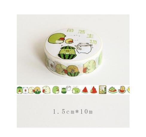 Sumikko Gurashi Watermelon Washi Tape DIY Scrapbooking Sticker Label Masking Tape School Office Supply