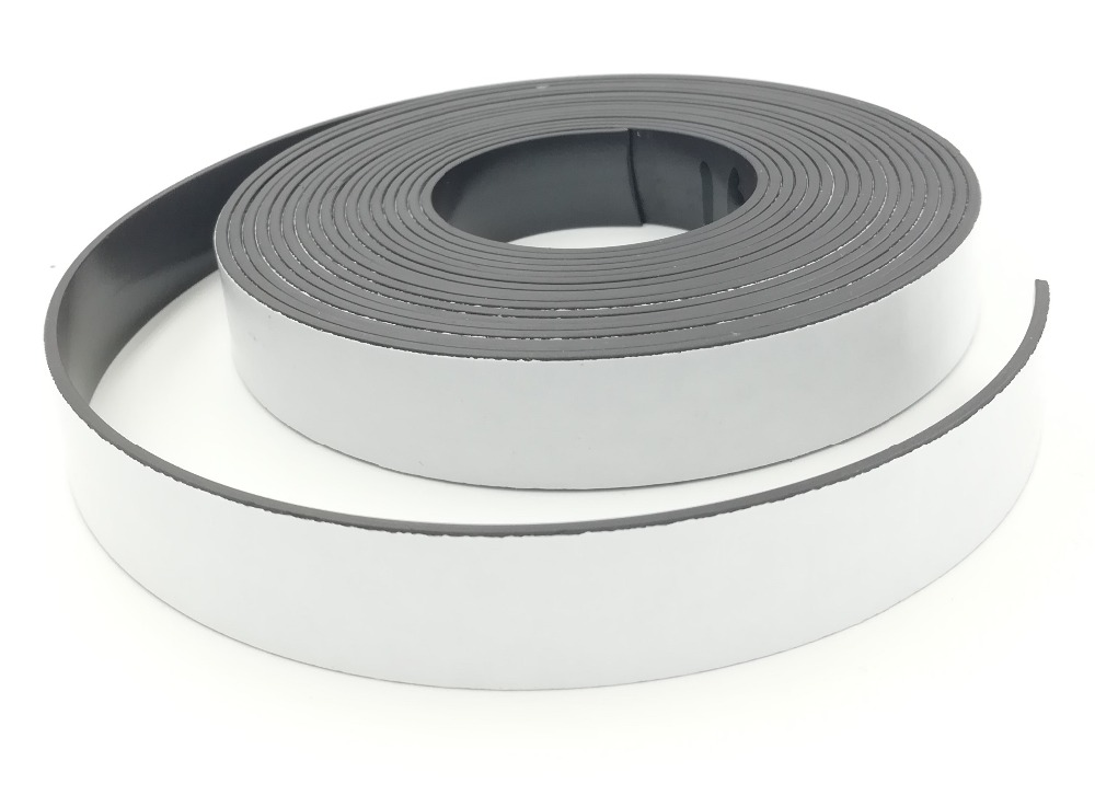 1M 1.5mm Rubber Self Adhesive Magnetic Stripe Flexible Magnet DIY Strip Tapes new 3 meter 12 7 x 1 5mm self adhesive rubber magnetic tape magnet strip strong suction can cut a variety of shapes diy
