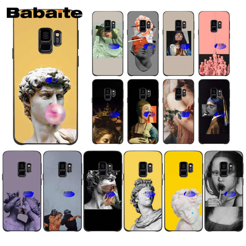Babaite Yellow Vintage Plaster Statue David Art Printing da vinci Pulp PhoneCase for Samsung Galaxy S9 S8 plus S7 S6 edge S5