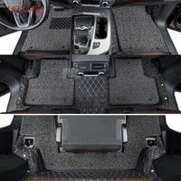 Custom car floor mats FIT For Audi Q7 2018 Leather Car Floor Mats car styling